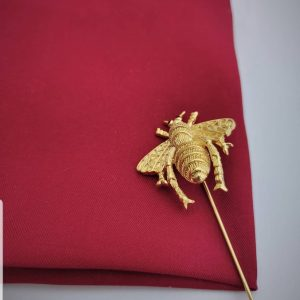 Gold Bee Label Pin