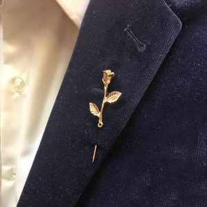 Gold Flower Label Pin