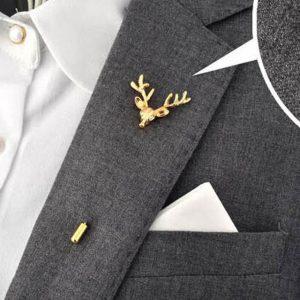 Label pin for men