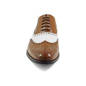 White + Cognac Wingtip Oxford