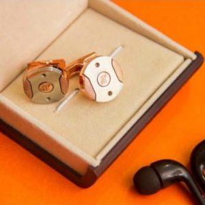 men's cufflinks Circle Gold